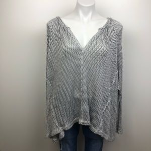 Free People We The Free Split Back Hacci Knit Top